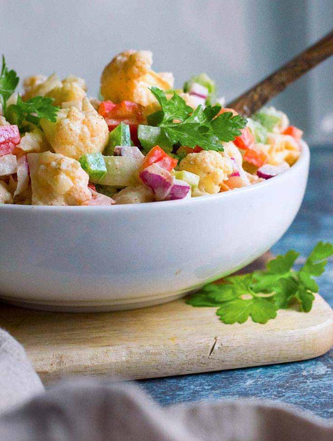 Cauliflower Salad, Pasta Salad Substitute!