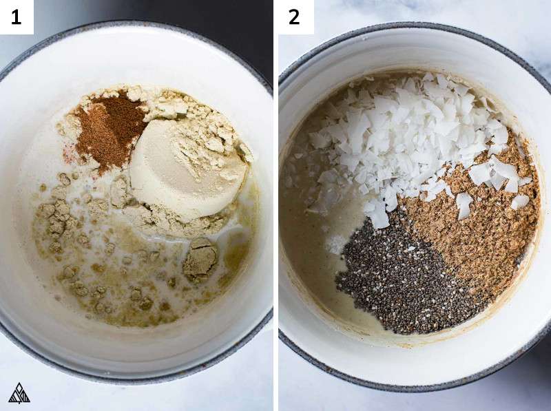 Steps in making low carb oatmeal
