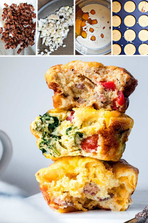 What're your favorite low carb foods to add to eggs? 🍳 . Hmmm I'm gonna go with cheese, sausage, bacon and onions. Yikes, I think I like it all! Which is why I made keto egg muffins, 3 ways -- we never get tired of eating these for breakfast! #ketoeggmuffins #lowcarbeggmuffins