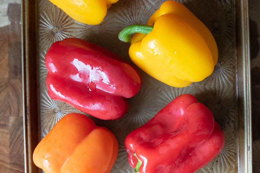 Different colors of bell peppers