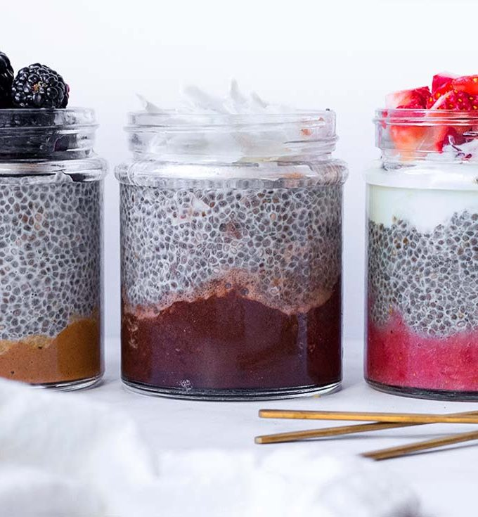 Easy Keto Chia Pudding, 3 Suuuper Tasty Variations!