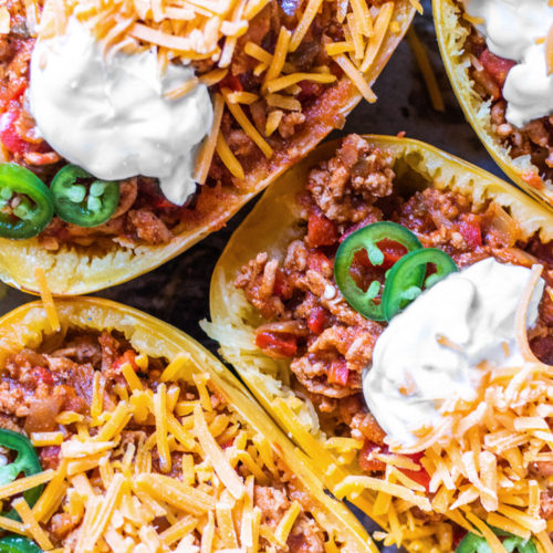 3 servings of keto chili boats