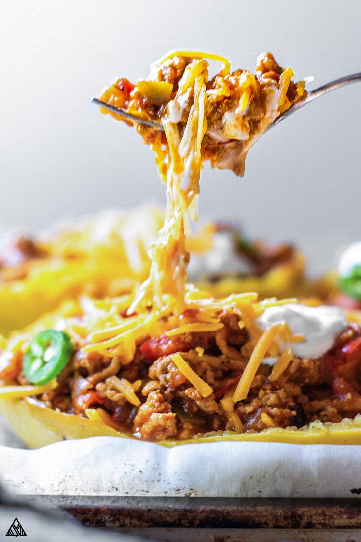 A spoonful of keto chili