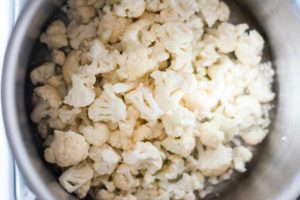 how to steam cauliflower for loaded cauliflower casserole