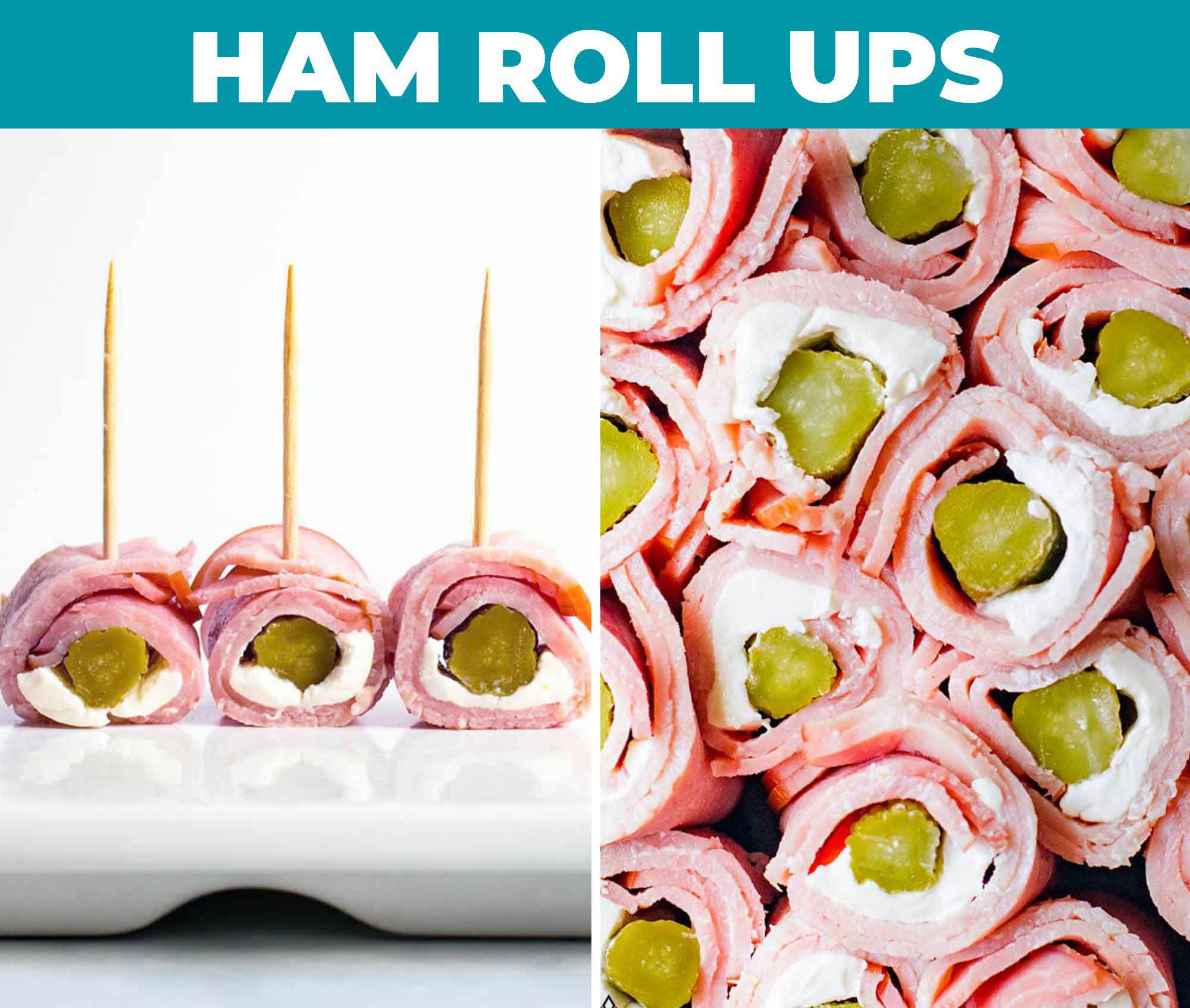 Images of ham roll ups