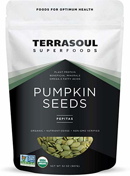 carb free snacks, terrasoul pumpkin seeds