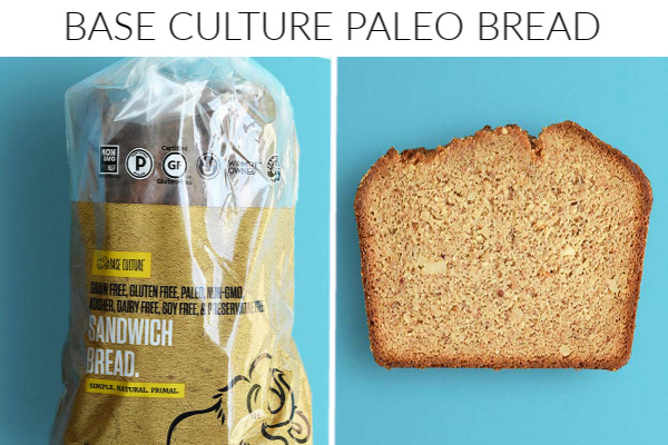 Collage images of base culture paleo bread
