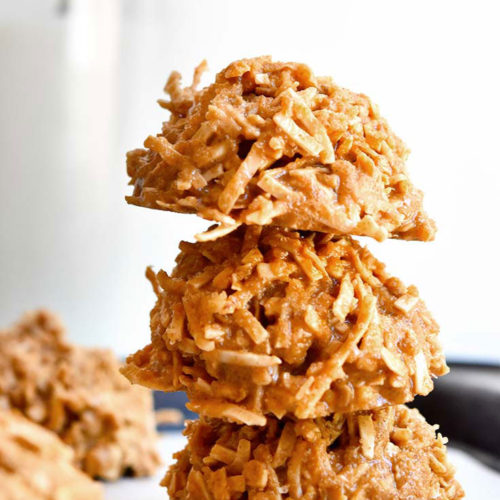 Side view of keto no bake cookies