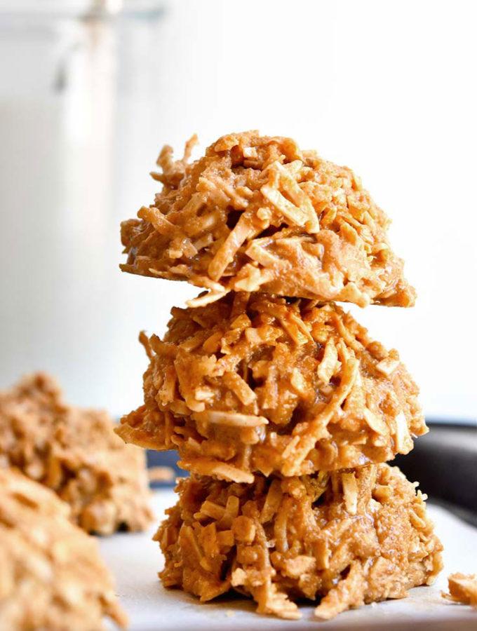 Amazing Keto No Bake Cookies! Coconut + Peanut Butter