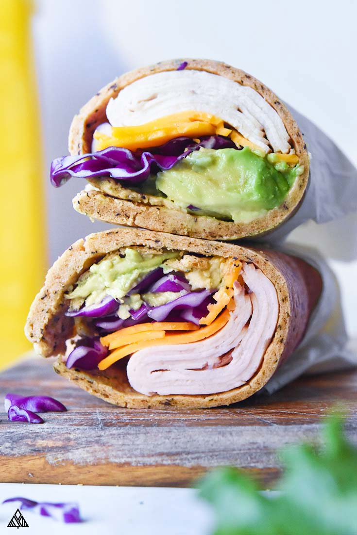 2 servings of low carb wraps