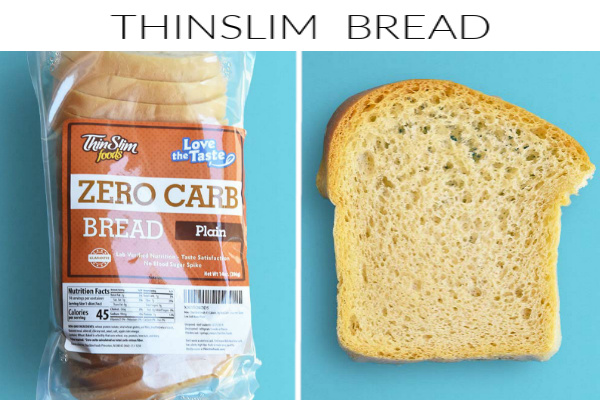 Collage images of thinslim bread