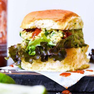 Avocado tuna salad in a bread