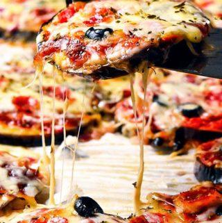 10 Minute Eggplant Pizza (Low Carb + Keto)