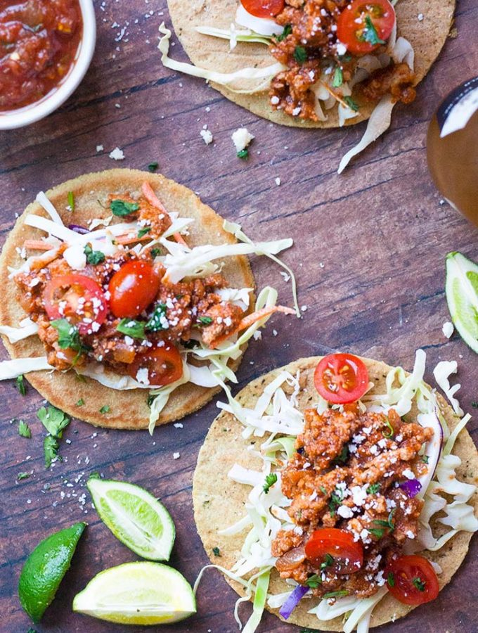Flavor Packed Ground Chicken Tacos! (Low Carb + Paleo!)