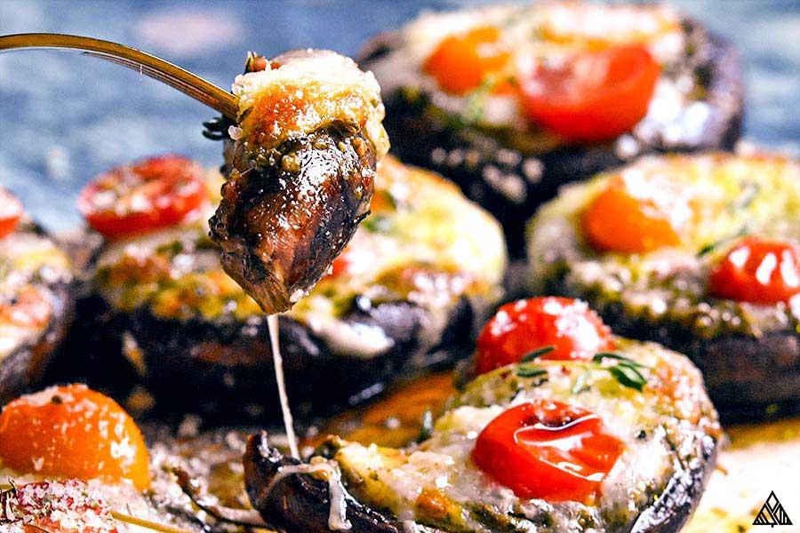 Stick with a slice of portobello mushroom pizza