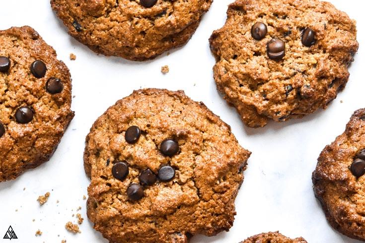 Closer look of almond flour peanut butter cookies