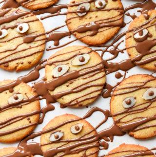 Top view of almond flour sugar cookies