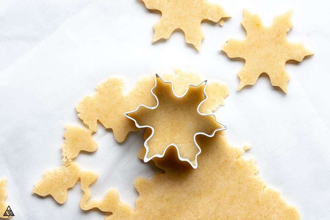 Forming the almond flour sugar cookies