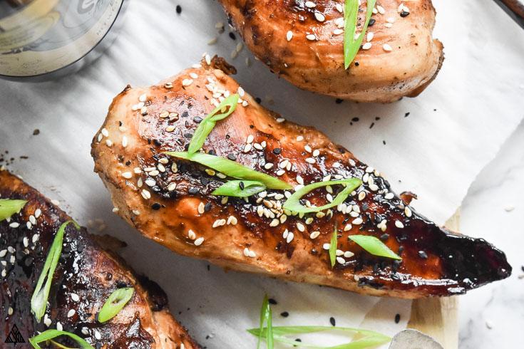 Closer look of asian chicken marinade