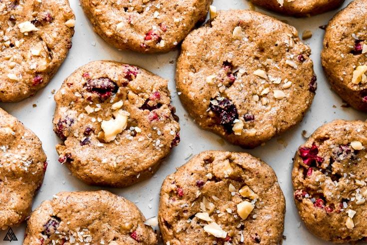 Top view of breakfast cookies