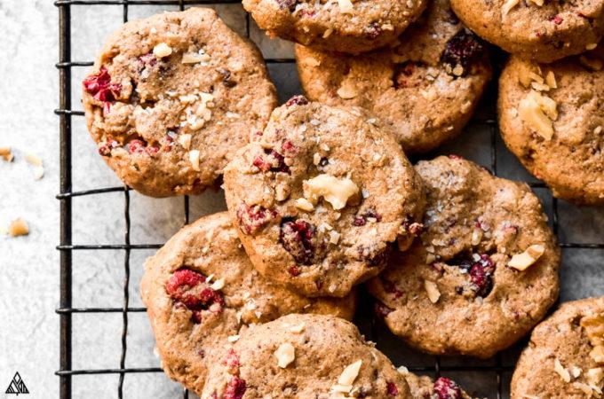 Breakfast cookies on a baking screen