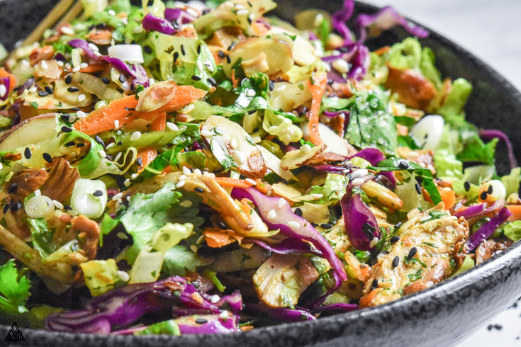 CLoser look of chinese chicken salad