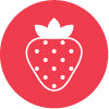 low carb fruit icon