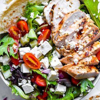 Greek Chicken Salad (Low Carb!!)