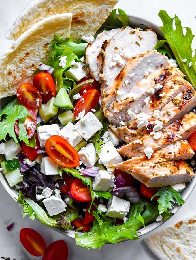 Greek Chicken Salad (Low Carb!!)