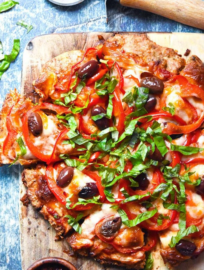 Meatza (Low Carb + Gluten Free Pizza!)