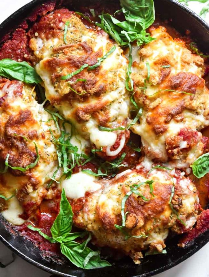 Stuffed Chicken Parmesan (Low Carb Option!)