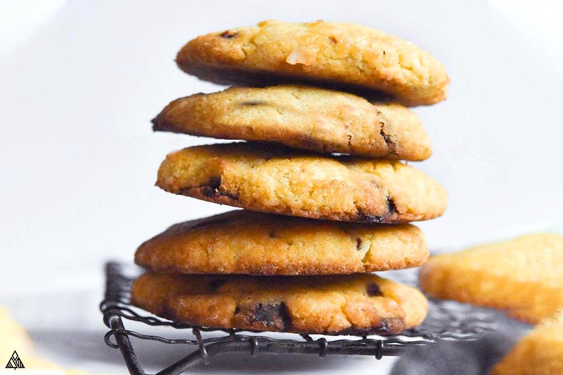 A pile of coconut flour cookies