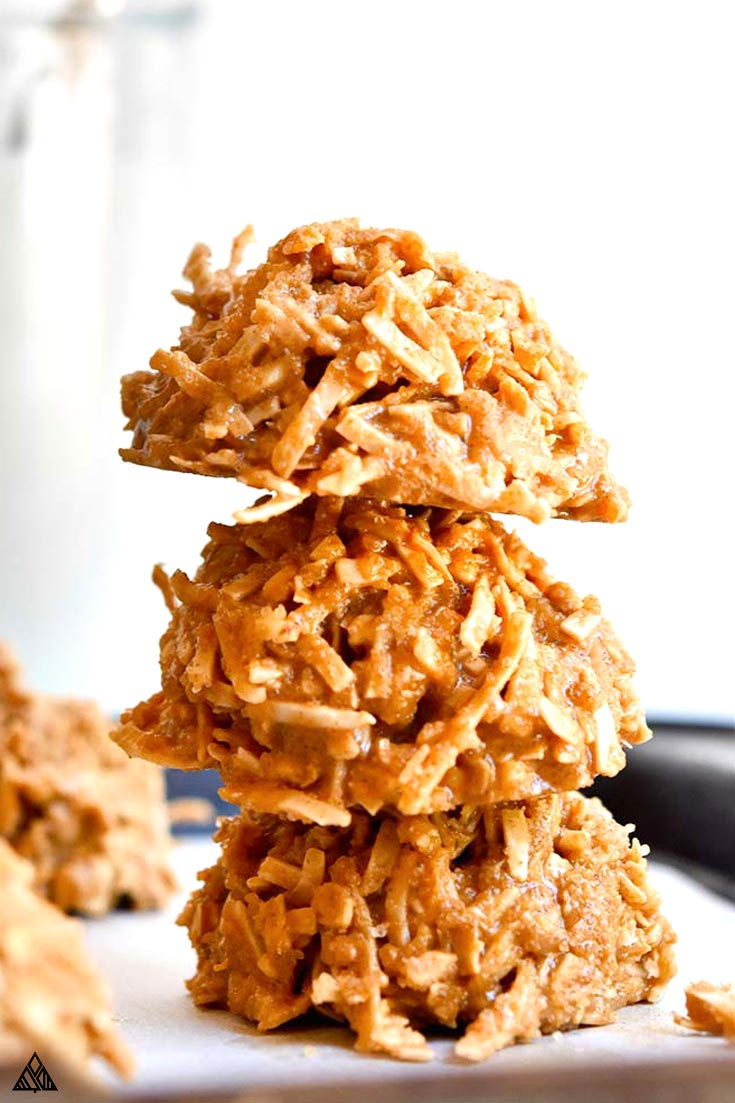 Pile of healthy no bake cookies