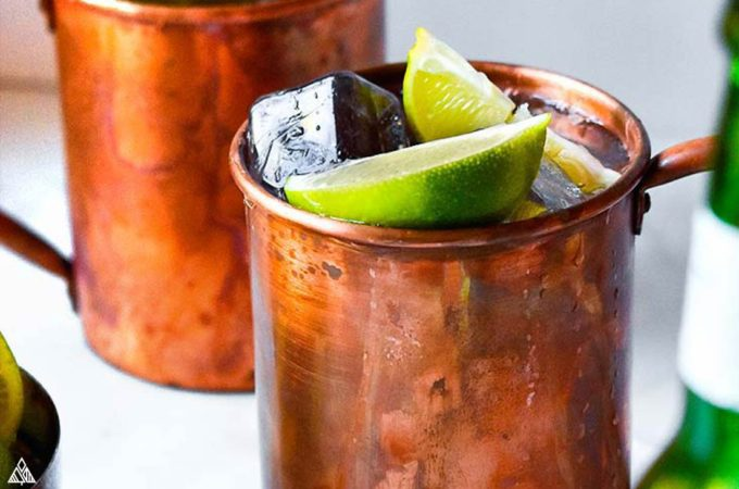 Closer look of keto moscow mule