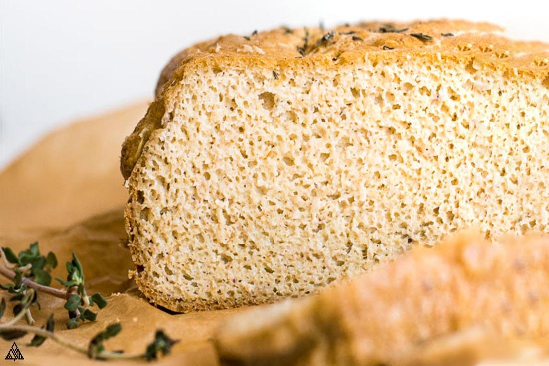 CLoser look of almond flour bread