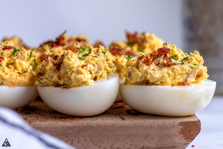 One of the best deviled eggs recipes is deviled eggs with bacon