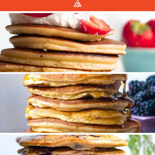 *NEW* Using a low carb pancakes recipe means you can once again indulge in the sweet decadence of a moist fluffy short stack without carb overload! #ketopancakes #pancakes