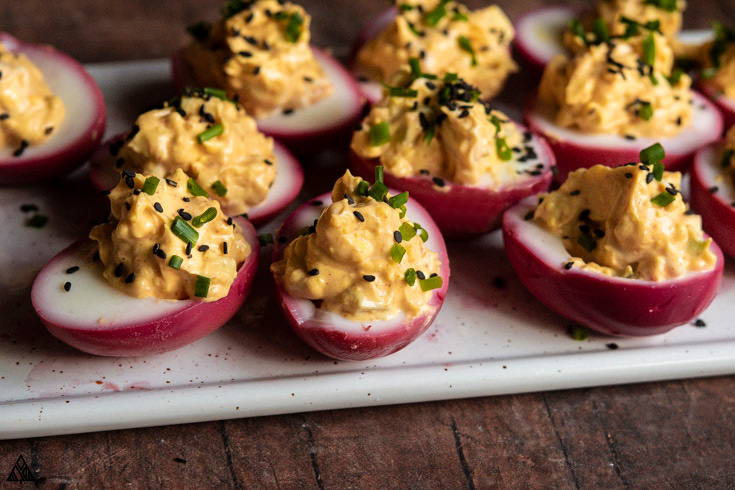 One of the best deviled eggs recipes is pickled deviled eggs