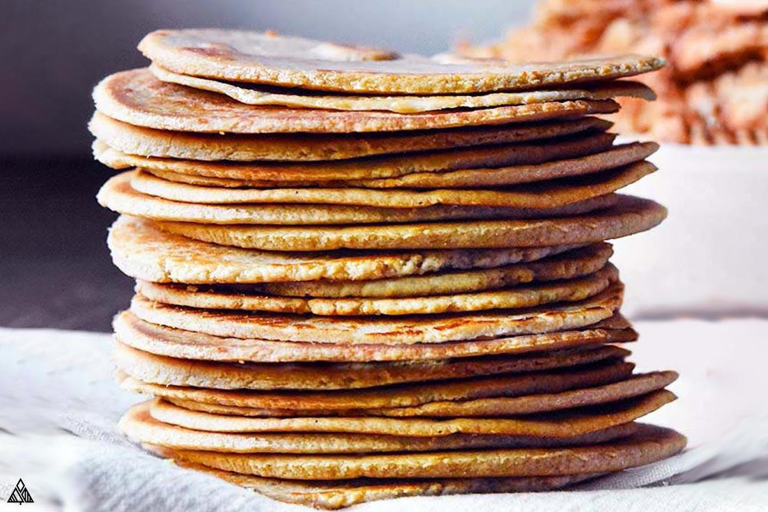 Pile of almond flour tortillas