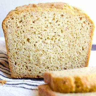 Front view of a loaf of low carb sandwich bread