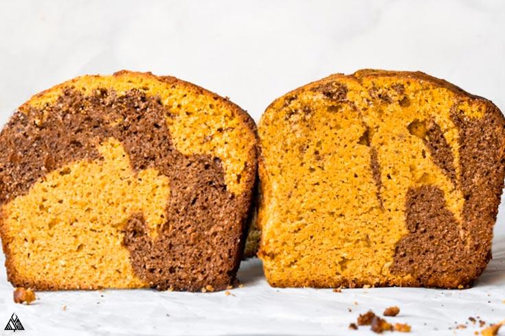 2 loaves of healthy pumpkin bread