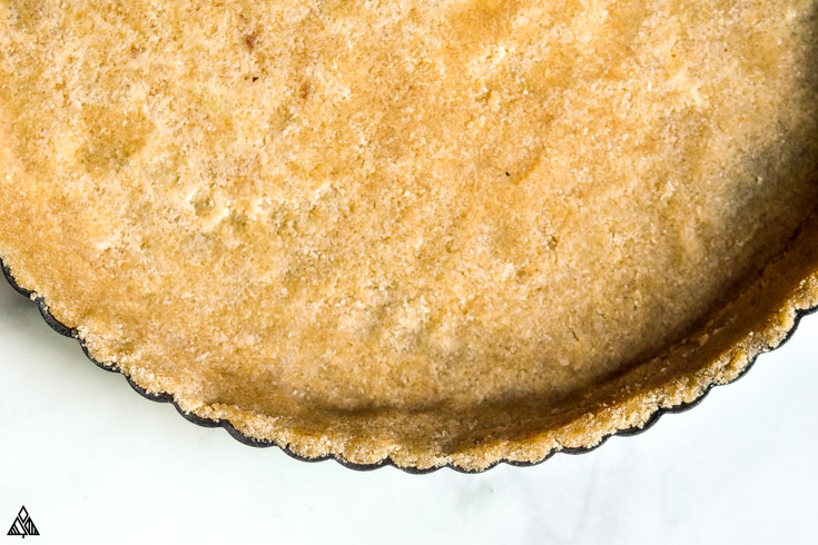 Top view of low carb graham cracker crust