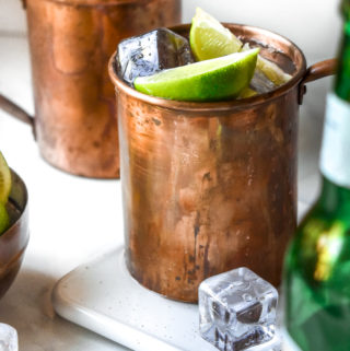 Keto moscow mule in a cup