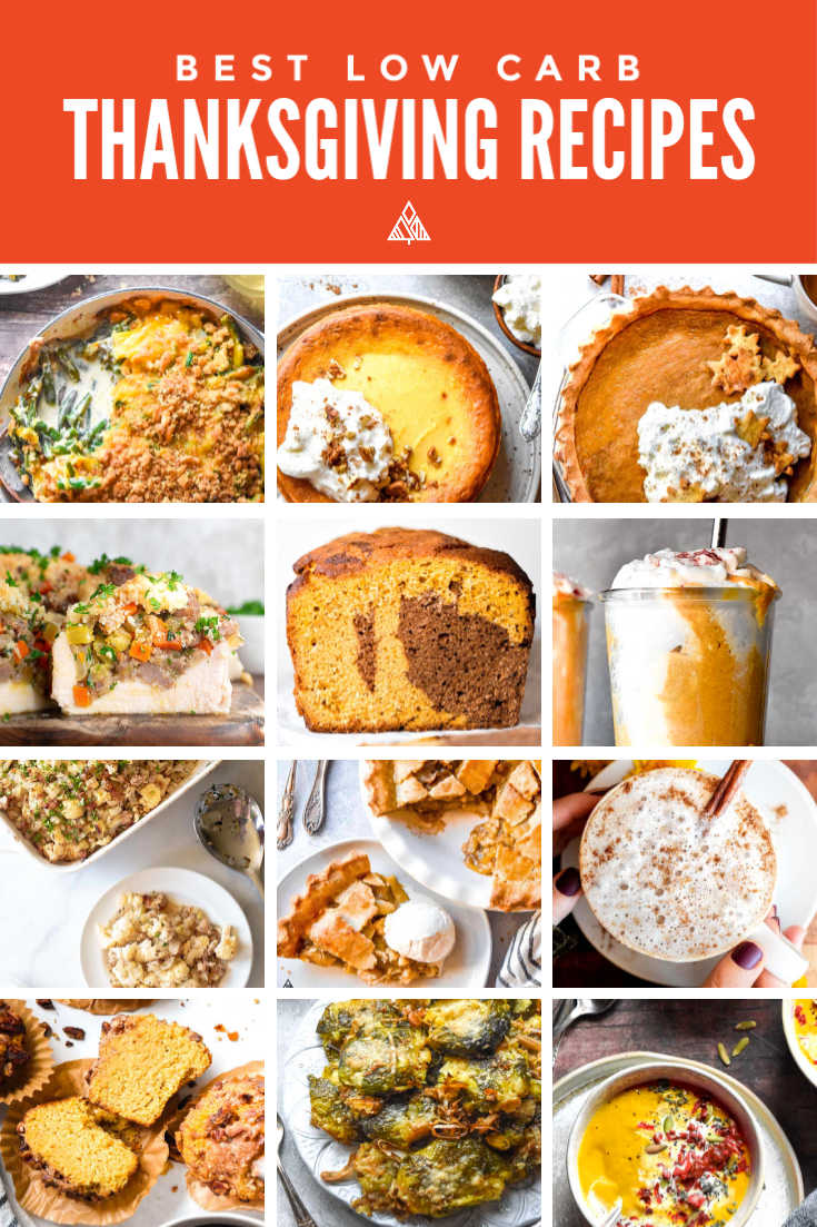 *NEW* Check your guilt at the door because you can have your cake and eat it too with the best 20 low carb Thanksgiving recipe list! #ketothanksgiving #lowcarbthanksgiving