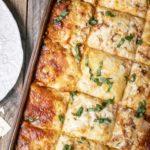 top view of cabbage lasagna