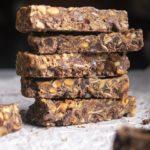 Stack of low carb granola bars