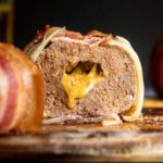 Side view of sliced low carb onion bomb