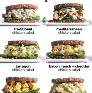 montage of chicken salad variations
