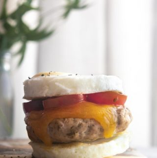 closer view of low carb egg mcmuffin
